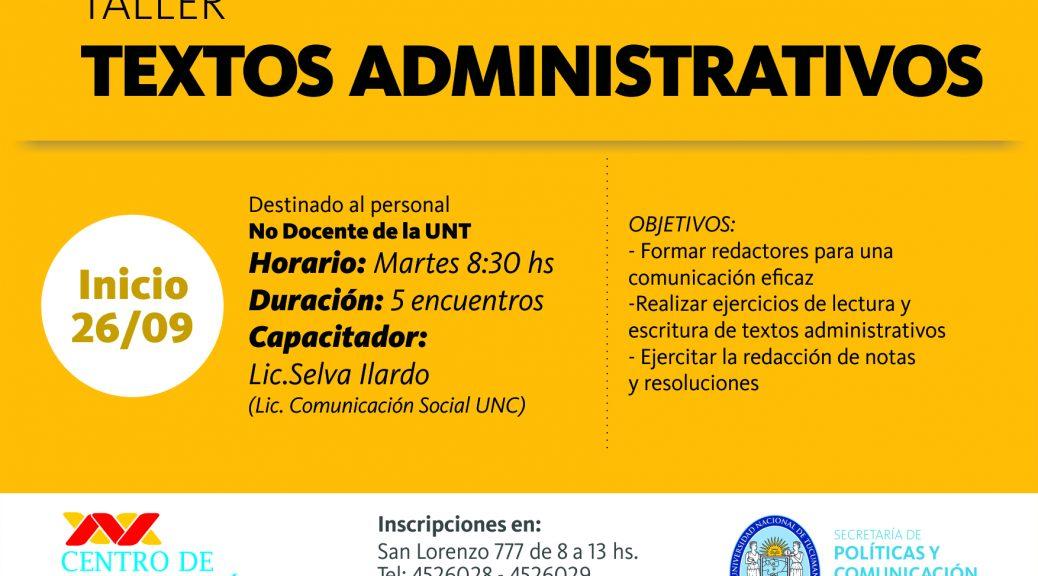 Flyer textos administrativos